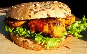Chicken Nugget Burger