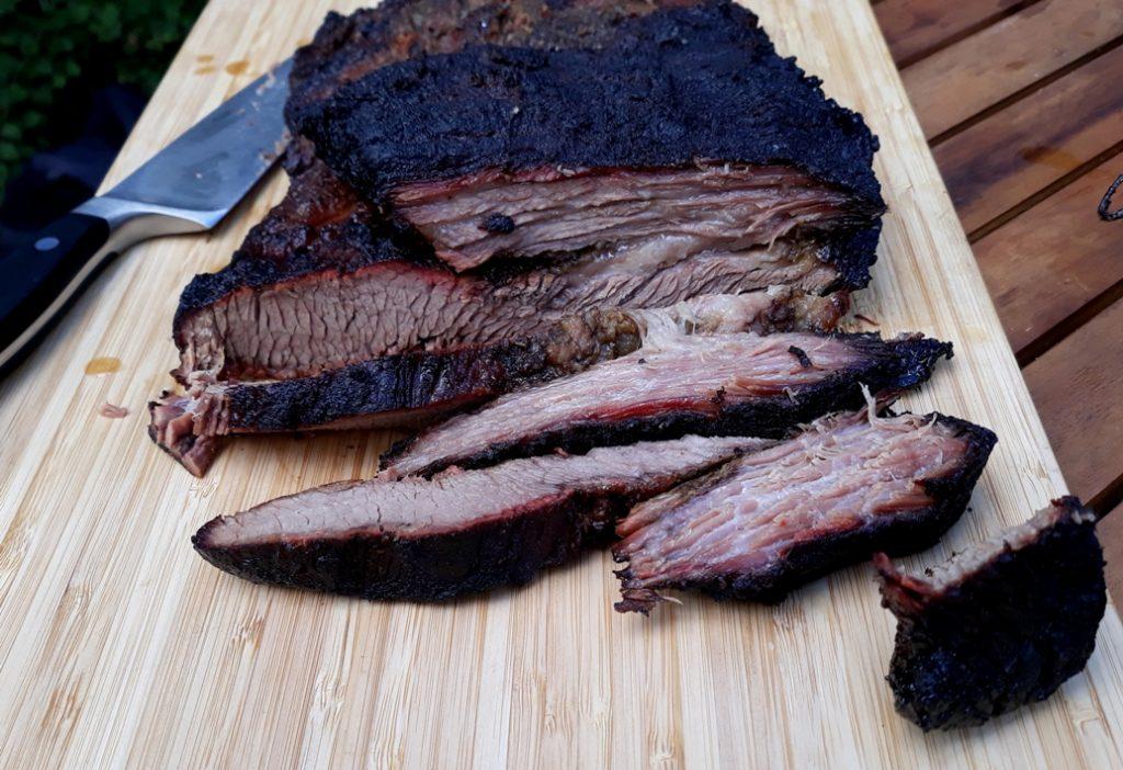 Beef Brisket aufgeschnitten