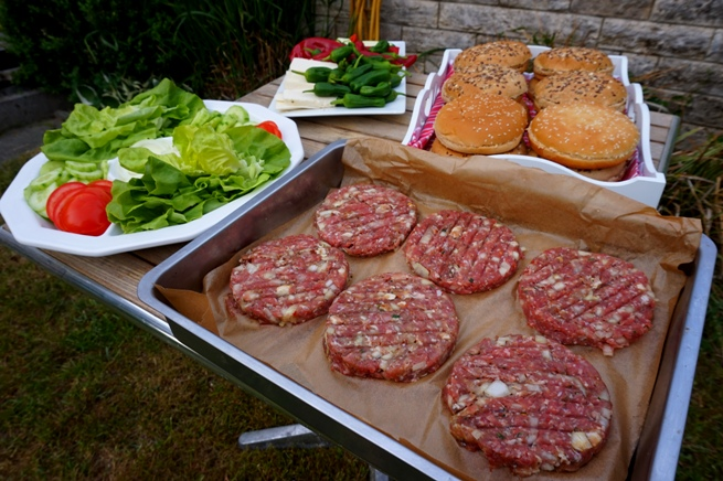 Burgerpatties Grillen