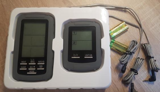 Thermometer zum Smoken mit 2 Temperaturfühlern