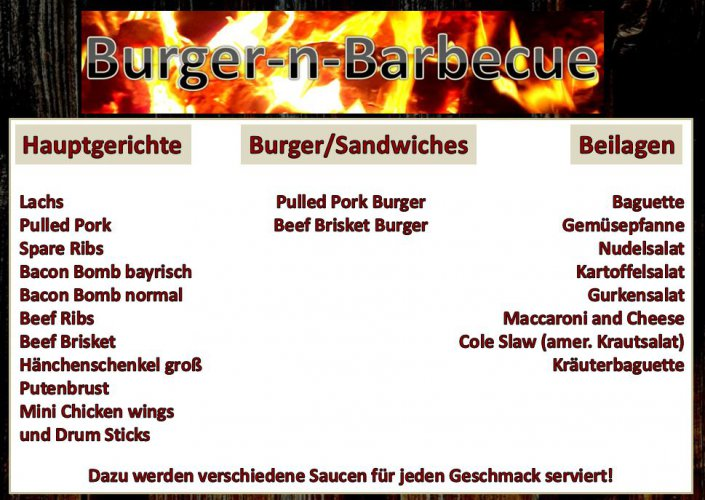 Angebot BBQ Catering Partyservice